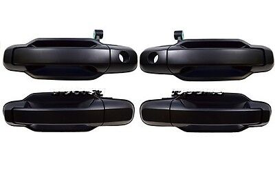 fits Kia Outside Outer Exterior Door Handle Front Rear Left and Right Black Set