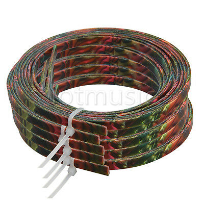 5pcs Colorful Celluloid Guitar Binding Purfling Body Project Strip 1650x4x1.5mm
