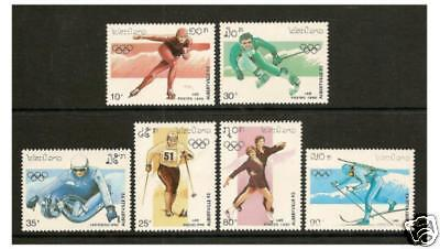 Laos - 1990 Winter Olympic Games set - MNH - SG 1196/1201