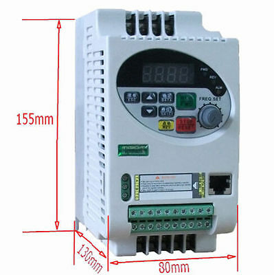 220V NEW Update Vector Frequency Inverter Single Phase 1.5KW SVPWM