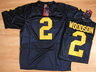 NCAA Authentic College Jersey/Trikot MICHIGAN WOLVERINES #2 Charles Woodson navy