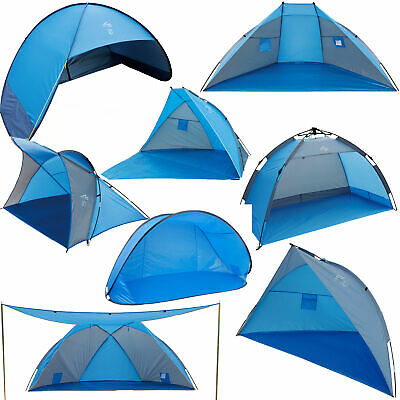 LOFTRA Strandmuschel Pop Up Automatik UV 60+ 80+ Beach Tent Camping Windschutz