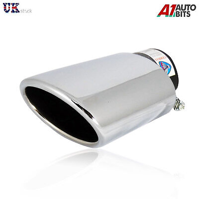 Universal Sport Chrome Exhaust Tail Tip Muffler Pipe Trim New 427