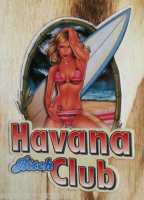 "Pin up Girl oldschool Aufkleber ""Havanna Bitch"" Surfer Girl Sticker / Tuning"