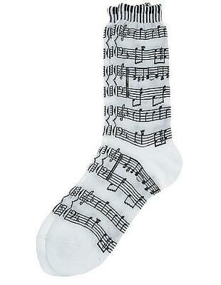 Women's Socks Sheet Music/Keyboard White/Black Present
