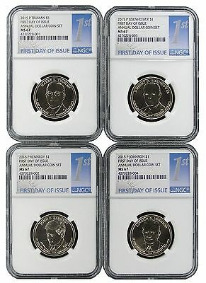 2015 P Presidential Dollars From Annual Dollar Set NGC MS67 First Day Issue