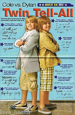 """DYLAN & COLE SPROUSE in SHORTS - ALY & AJ - 11"""" x 8"""" PINUP - POSTER - TEEN ACTOR"""