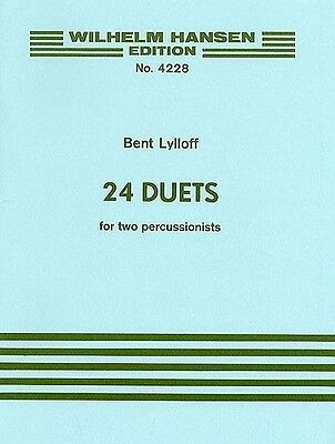 Bent Lylloff 24 Duets For Percussion, Sheet Music, English - 9788759854853