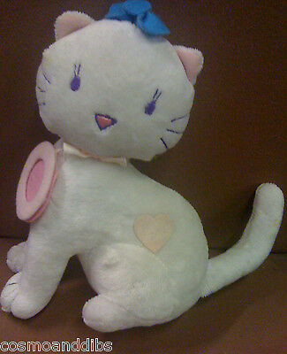 White Cat With Doorbell Sound Effect Soft Toy - Bhs