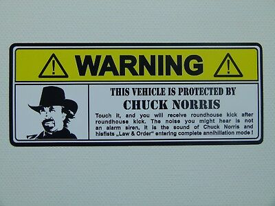 "JDM/OEM ""Chuck Norris Protected"" Aufkleber / Stickerbomb Comic Sticker USA Auto"
