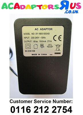 18V Mains AC-AC Adaptor Power Supply for Alesis Multimix8 USB 2 Mixer