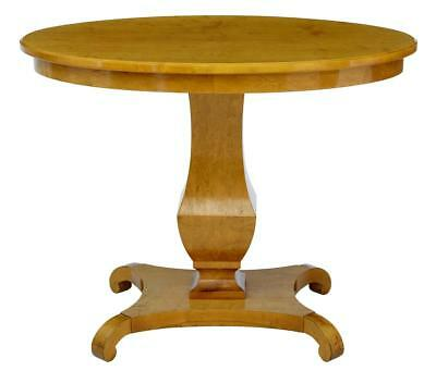 19Th Century Swedish Birch Center Occasional Table