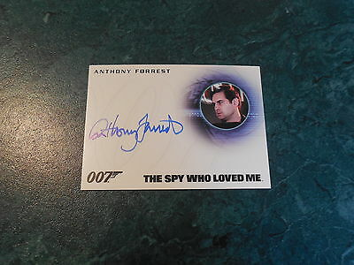 James Bond Archives 2015 Edition - Anthony Forrest as Officer Autograph A275