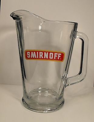 Classic  SMIRNOFF  VODKA  Glass  Cocktail Mixing Pitcher  64 Ounce   Mexico