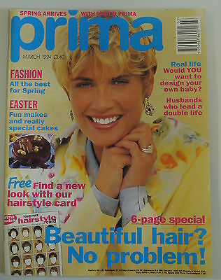 Prima Magazine. March 1994. Fashion! All the best for spring. Beautiful hair.