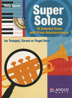 Super Solos for Trumpet & Piano Sheet Music Book & Play-Along CD
