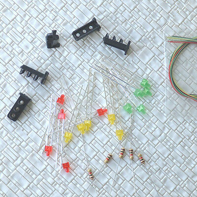 10 sets Target Faces + Accessories for Railway Dwarf signal HO Scale 3 Aspects