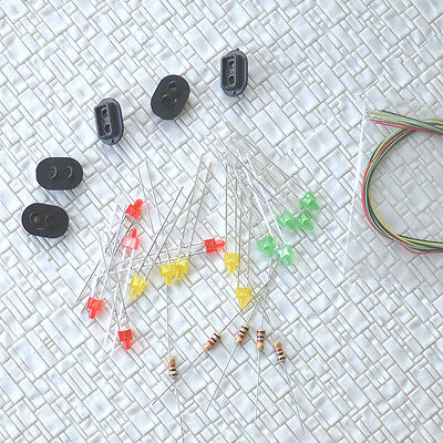 10 sets Target Faces + Accessories for Railway signal HO Scale 2 Aspects