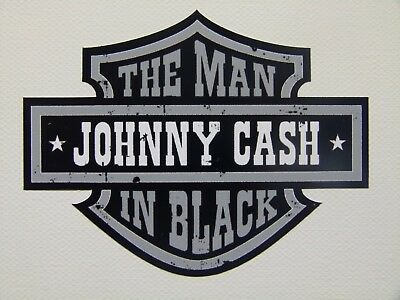 Oldschool Johnny Cash Sticker Aufkleber Man in Black Rockabilly Autoaufkleber US