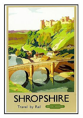 Shropshire Railway Vintage Old Advert Picture Oldschool Poster A3 A4