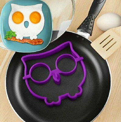 Food Side Up Owl Fried Egg Mold Ring Shaper Silicone Funny Cooking Tool kitchen