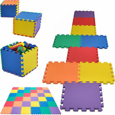 18 Pack Eva Foam Soft Play Mats Interlocking Kids Activity Set Floor 29cm Tiles