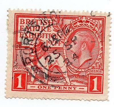 GB KGV 1924 SG430a ~ ERROR ~ Scratch across nose Flaw ~ Used