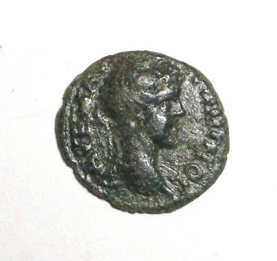 Ancient Roman Provincial, 100 - 400 AD. Bronze coin. Wreath