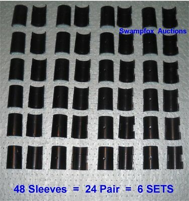 "24 PAIR (6 Full Sets) SPLIT SLEEVES/Shelf Clips for ALL 1"" Wire Shelving NEW"