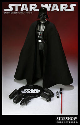 "Darth Vader Star Wars Iv Figure Anh  A New Hope 12"" 1/6 Sideshow New Mip"