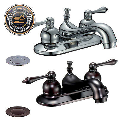 """4"""" Centerset Bathroom Sink Faucet with Drain"""
