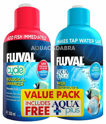 Fluval 250Ml Cycle & Free Aquaplus Value Pack Deal Biological Water Conditioner