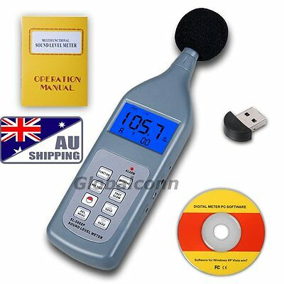 AU Sound Level Meter SL5868 Decibel Noise Measure Digital Bluetooth 30 ~ 130 dB