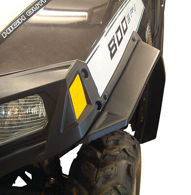 New 2011-2014 Polaris Utv Rzr 800 Fender Flares Over Fenders Mud Guards Black