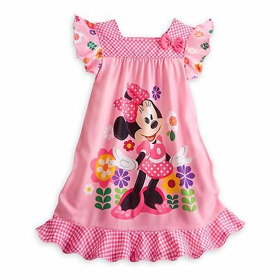 Disney Store Minnie Mouse Short Sleeve Nightgown Pajama Girl Size 5/6