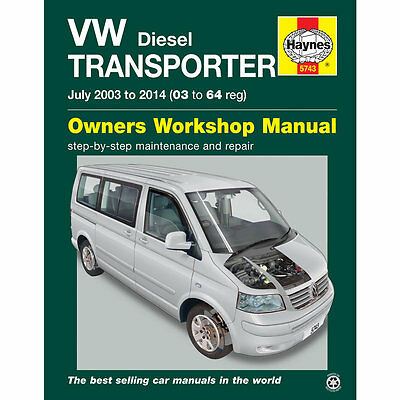 VW Transporter T5 1.9 2.0 2.5 Diesel 2003-14 Haynes Workshop Manual
