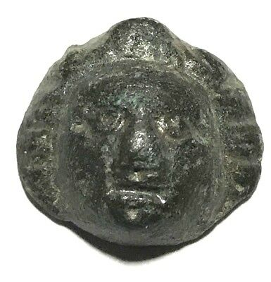 Ancient Greek, 3rd - 2nd c. BC. Bronze bust, face, Decoration