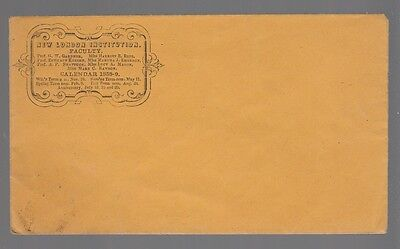 [54469] Pre-Civil War Postal Cover New London Institution Faculty 1858 Calendar