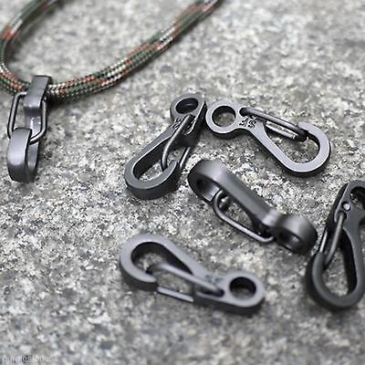 2 Portable Fishing Camping Hanging Buckle Snap Clip Hook Keychain Carabiner Tool