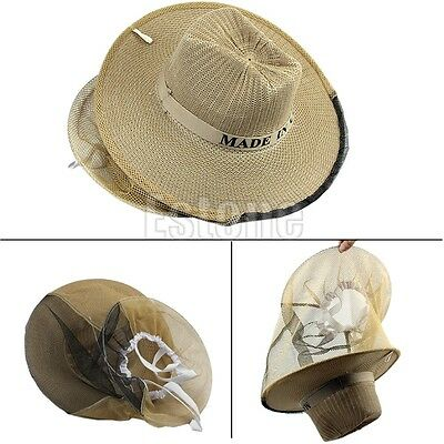 Garden Guard Cowboy Anti Insect Mosquito Bee Bug Head Face Veil Beekeeping Hat