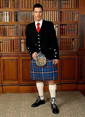 Rangers Dressed Mod 5 Yard Wool Made in Scotland Kilt Usually £199 All Sizes New