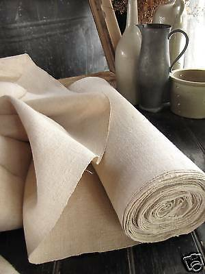 Vintage homespun linen 12yds upholstery fabric material