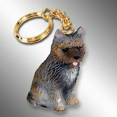 CAIRN TERRIER Brindle Dog Tiny One Resin Keychain Key Chain Ring