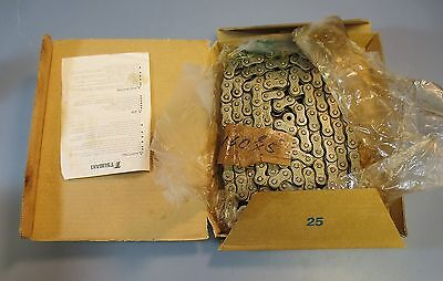10' Section of Tsubaki Roller Chain Riveted Nickel Plated RS60-H-NEP-1-RP NIB