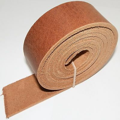 "3.5MM PREMIUM ITALIAN LIGHT BROWN VEG TAN LEATHER BELT BLANKS 142cm  56"" INCH"