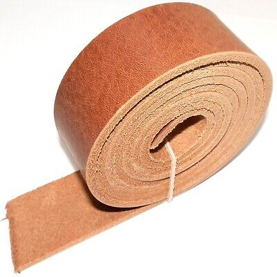 "3.5MM VINTAGE ITALIAN LIGHT BROWN VEG TAN LEATHER BELT BLANKS 142cm  56"" INCH"