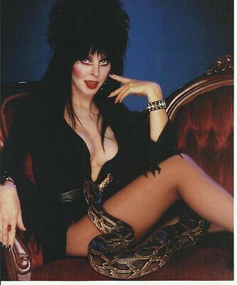 Elvira Cassandra Peterson Seated with Snake 8 x 10 Photo