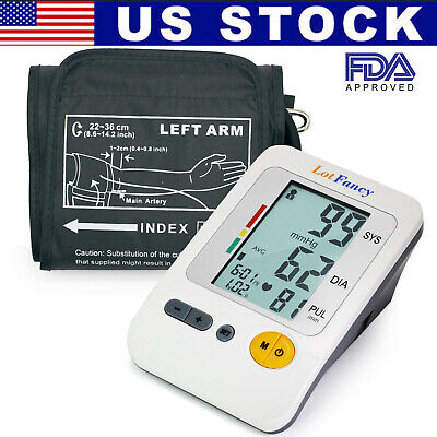 Automatic Upper Arm Blood Pressure Monitor BP Cuff Machine Tester Gauge Sensor