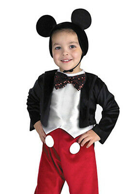 Boys Childs Infant Deluxe Mickey Mouse Costume - XS Toddler 3T-4T, S 4-6 - Fast