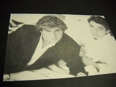 WHAM! 1985 music business promo mag picture GEORGE MICHAEL & ANDREW RIDGELEY